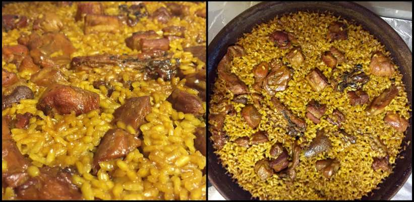 Arroz con conejo y costillas